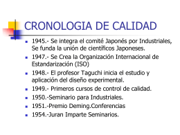 CRONOLOGIA DE CALIDAD
