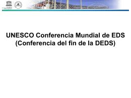 Conferencia fin Década EDS Japón 2014