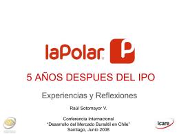 5 AÑOS DESPUES DEL IPO