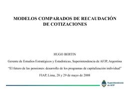 Hugo Bertín - (FIAP) Federación Internacional de Administradoras