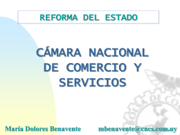 REFORMA DEL ESTADO - Cámara Nacional de Comercio y Servicios