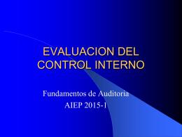 Fundamentos de Auditoria_Evaluación del Control Interno
