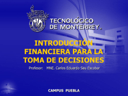 Introducción al Sistema Tecnológico de Monterrey