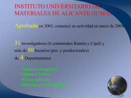 Presentación del IUMA CienciaTEC 2005