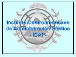 INSTITUTO CENTROAMERICANO DE ADMINISTRACION PUBLICA