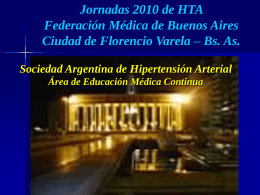 Power Point - Sociedad Argentina de Hipertensión Arterial