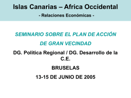 Islas Canarias – Africa Occidental