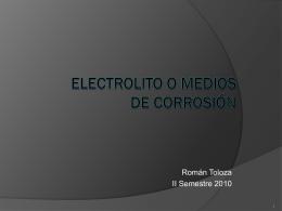 Corrosión. Elementos de Corrosión