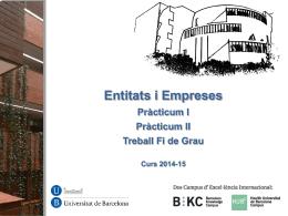 Pràcticum I - Universitat de Barcelona