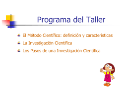 Taller de Formulación de Proyectos Científicos Escolares - fisica