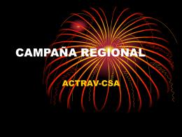 Ponencia: Campaña Regional: ACTRAV-CSA