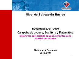 Nivel de Educación Básica Estrategia 2004