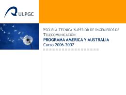 programa america y australia - Universidad de Las Palmas de Gran