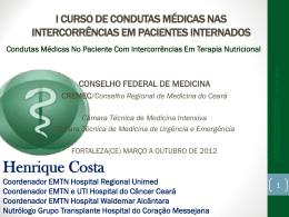 Condutas Médicas No Paciente Com Intercorrências Em Terapia