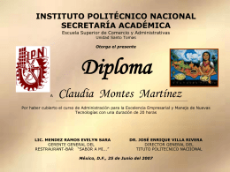 diplomajas - Instituto Politécnico Nacional