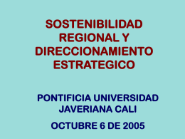 Presentación de PowerPoint - Pontificia Universidad Javeriana, Cali