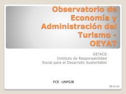 Observatorio de Economía y Administración del Turismo