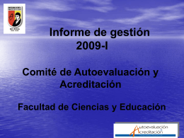 PRESENTACION INFORME GESTION 2009