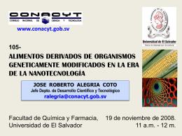 Nanotecnología - Consejo Nacional de Ciencia y Tecnología