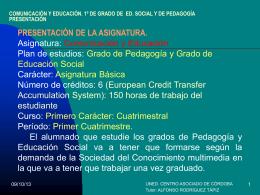 Presentación de PowerPoint - Horarios de los centros asociados de
