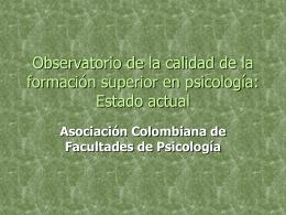 Avances_Observatorio - ASCOFAPSI