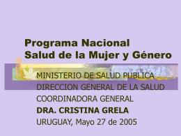 Programa Mujer y Género