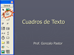Cuadros de Texto - Prof. Gabriel Matonte