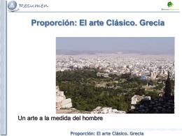 El arte Clásico. Grecia