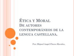 Ética y Moral. - Etica y Moral