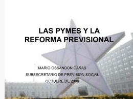 Se adjuntan ponencias de María Ester Feres y Mario Ossandón