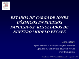 estados de carga de iones cósmicos en sucesos - UCM-GAE