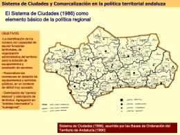 Sistema de ciudades Andalucía 1990