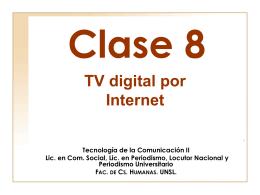 clase 8 - Página de Tecnología de la Comunicación