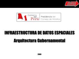 Arquitectura Gubernamental en materia de Gestión del Territorio