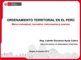 2. Desarrollo OT Peru - Comisión Ambiental Regional de La