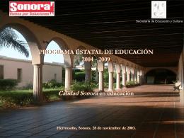Programa Estatal de Educación 2004-2009