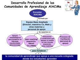 Desarrollo Profesional de las Comunidades de Aprendizaje AlACiMa