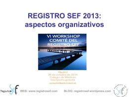 ORGANIZACION REGISTRO SEF 2013. Castilla