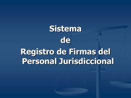 1.Ingreso al Sistema de Registro de Firmas