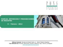 MARCAS. DEFINICION Y PROHIBICIONES DE REGISTRO