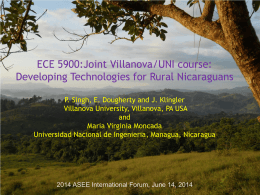 Topic 4: Current sustainable development programs in Nicaragua
