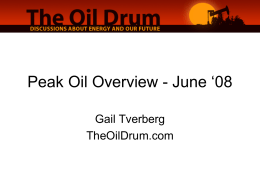Peak Oil Overview