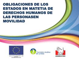 Obligaciones de los Estados en materia de Derechos Humanos de