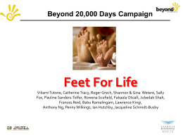 Feet for Life Presentation