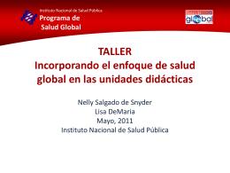Incorporando el enfoque de salud global en las unidades didácticas