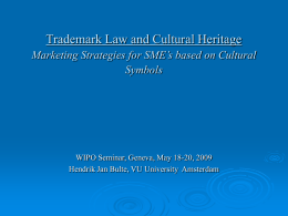 Trademark Law and Culture Marketing Strategies for SME`s