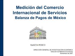 Comercio Internacional de Servicios