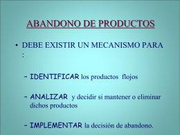 abandono de productos