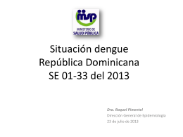 Situación de Dengue_DOR_2013