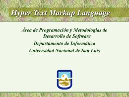 Orígenes de HTML - Universidad Nacional de San Luis